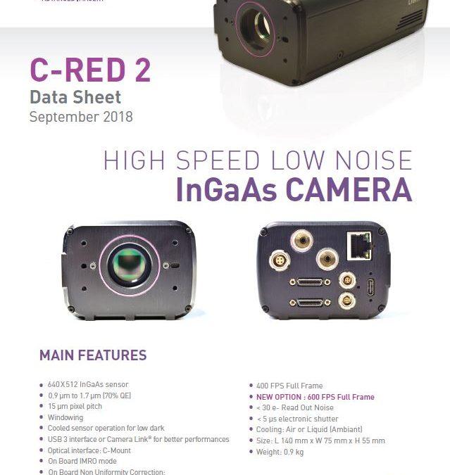 C-RED 2 : NEW DATASHEET – 600 FPS OPTION