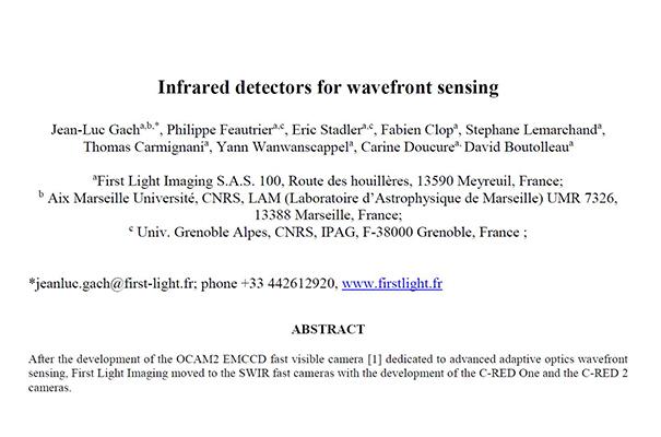 SCIENTIFIC PUBLICATION FOLLOWING AO4ELT 5 BY JEAN-LUC GACH