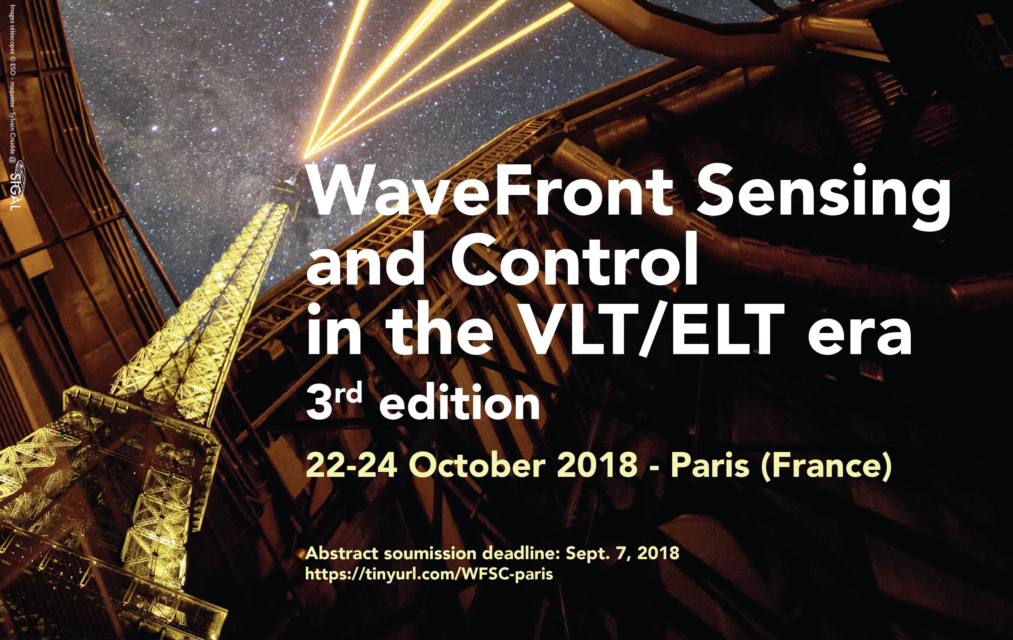 WAVEFRONT SENSING AND CONTROL IN THE VLT/ELT ERA - 3d edition