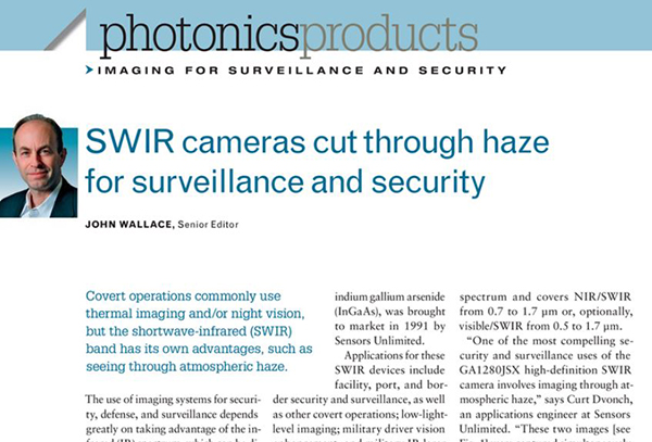 C-RED 3 IN LASER FOCUS WORLD – SWIR CAMERAS FOR SURVEILLANCE