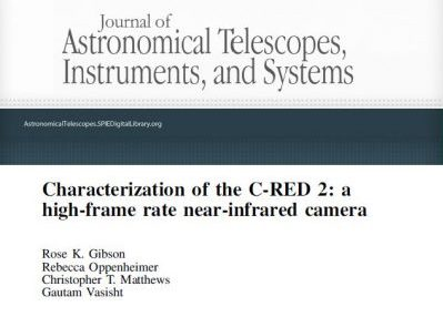 SCIENTIFIC PAPER IN JATIS: CHARACTERIZATION OF THE C-RED 2