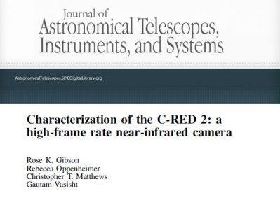 SCIENTIFIC PAPER IN JATIS: CHARACTERIZATION OF THE C-RED 2